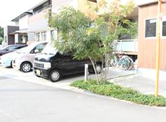 清水町ここから整骨院駐車場風景
